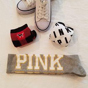 NWT Victoria's Secret PINK Knee High Socks (3)